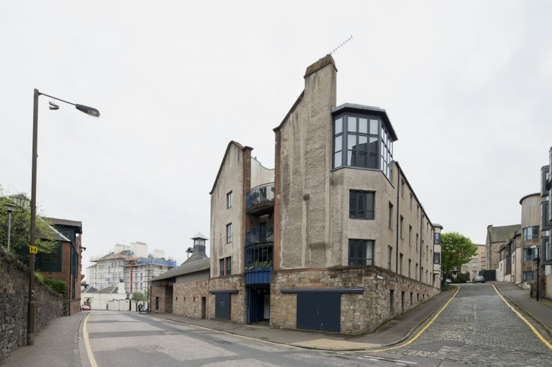 General view of former Maltings, 136-138 Calton Road, Edinburgh, from NW.