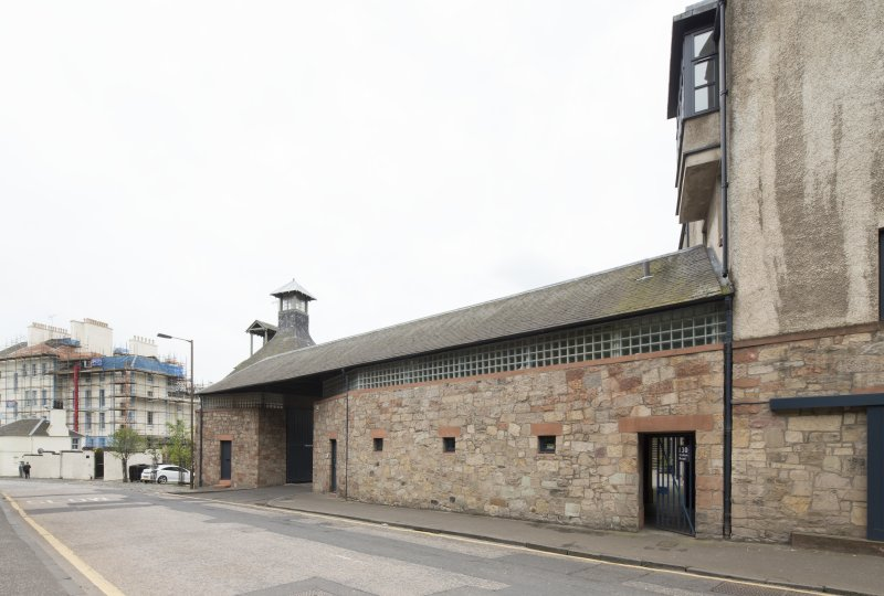 View of former Maltings, 136-138 Calton Road, Edinburgh, from NW.