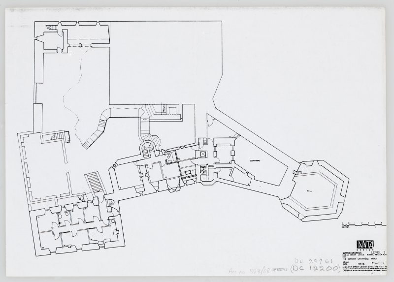 Eilean Donan Castle. Photocopy of survey drawings: plan level 2.