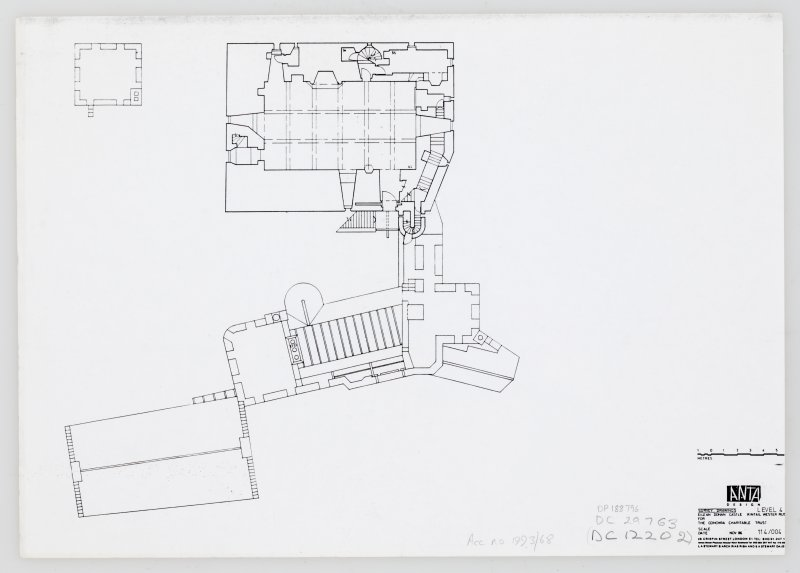 Eilean Donan Castle. Photocopy of survey drawings: plan level 4.