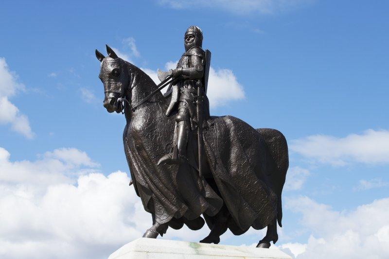 Detail of the Robert The Bruce Statue.