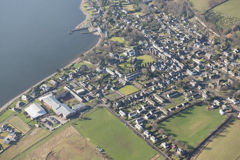 Oblique aerial view of Fortrose, looking WSW.