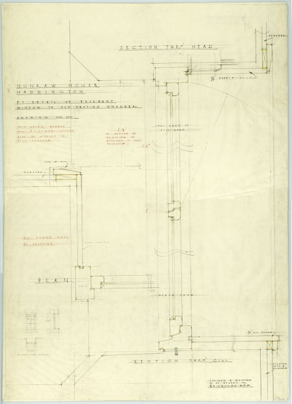 Alterations for Mr Spurway. Survey sketches and details of doors, windows and mens' wardrobes.
