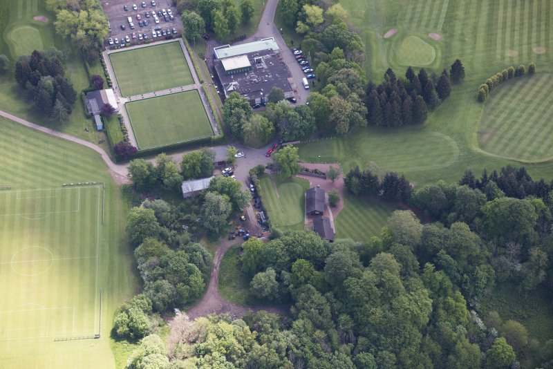 Oblique aerial view of Jerviston House, looking ESE.