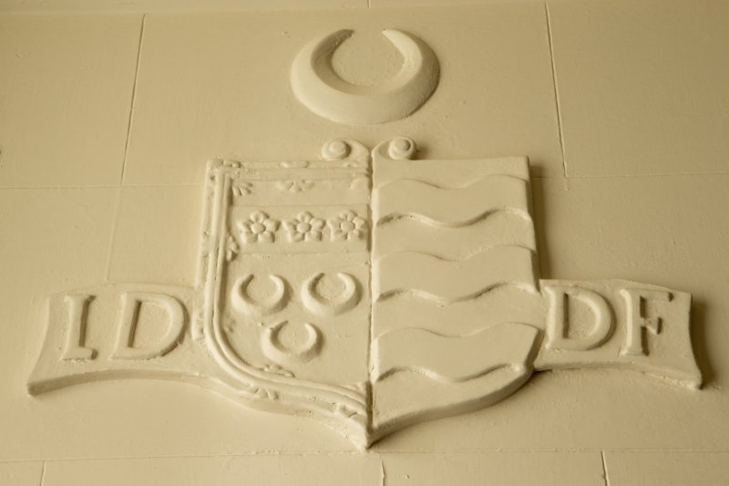 Charter room. Detail of heraldic device.
