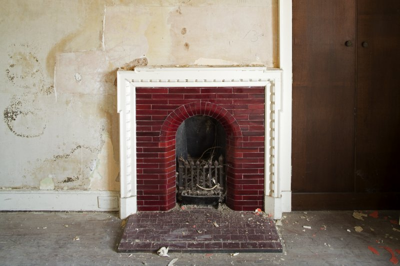 Detail of fireplace in the south first floor room. (1)