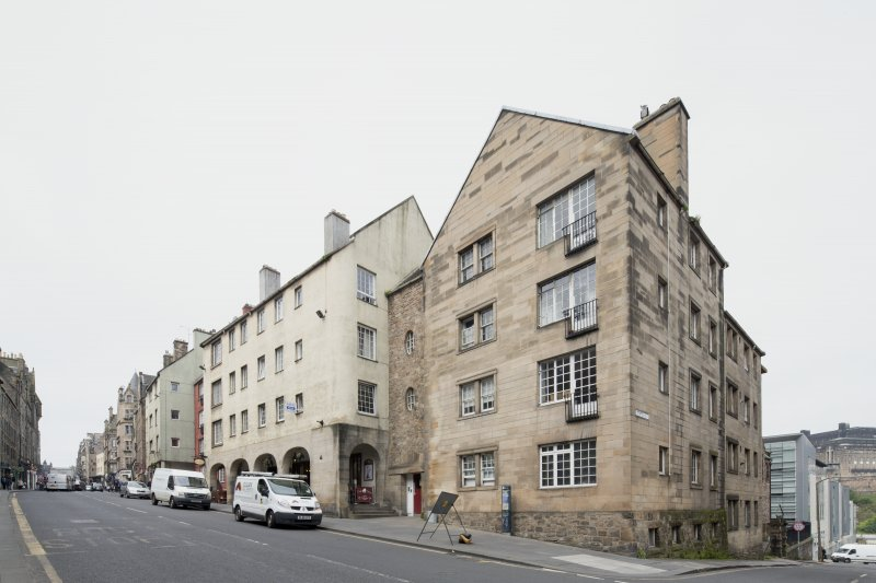 General view of 249-261 Canongate, Edinburgh, from SE.