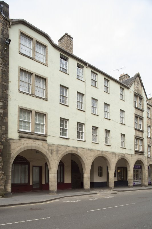 General view of 173-183 Canongate, Edinburgh, from SW.