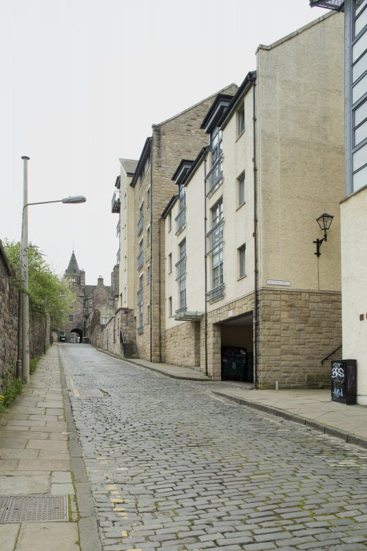 General view of modern housing in Old Tolbooth Wynd, Edinburgh, from N.