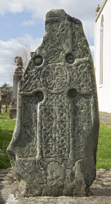 View of slab with carved cross (daylight)