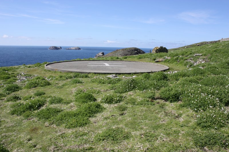 View of the helipad from the east.