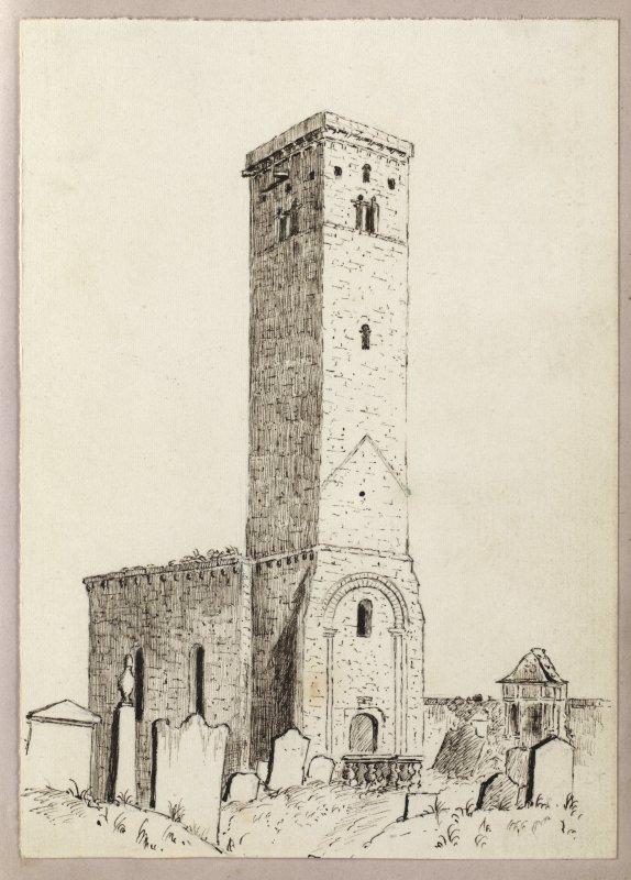 Sketch of St Rule's Tower, St Andrews.