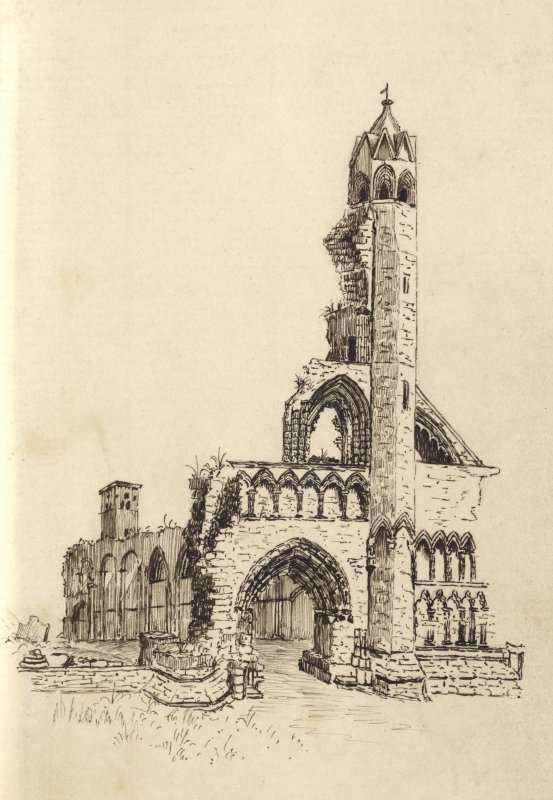 Sketch of St Andrews Cathedral.