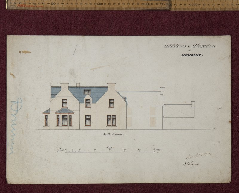 Copy of plan of additions to alterations at Drumin