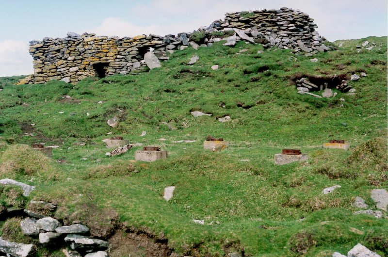 St Ronan's Church and SMRU hut foundations from south, 2006.