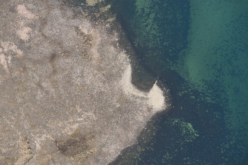Oblique aerial view of Brigurd Point Harbour at Hunterston Sands, looking S.
