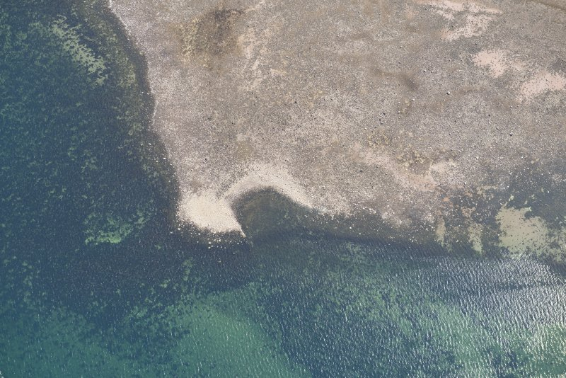 Oblique aerial view of Brigurd Point Harbour at Hunterston Sands, looking ENE.