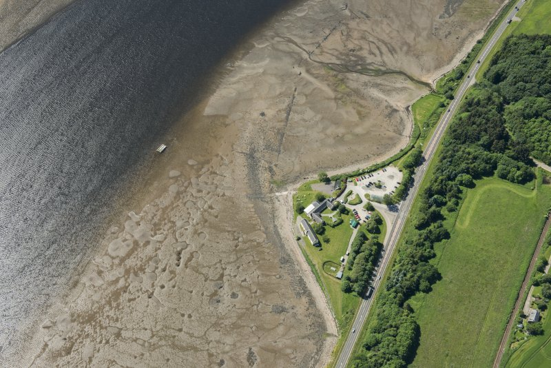 Oblique aerial view of Foulis Point, looking SSW.