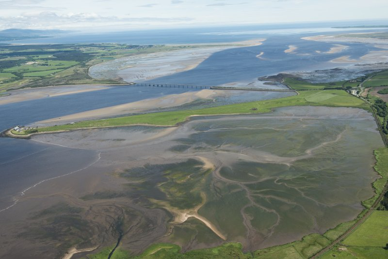 General oblique aerial view of the Dornoch Firth Bridge, looking ENE.