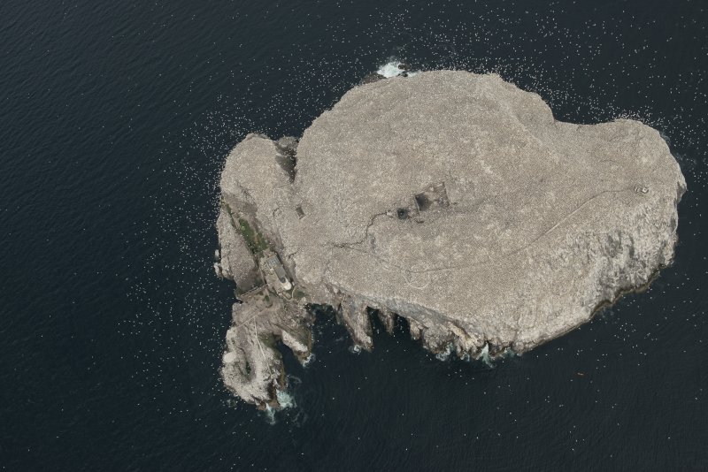 Oblique aerial view of the Bass Rock, looking NW.