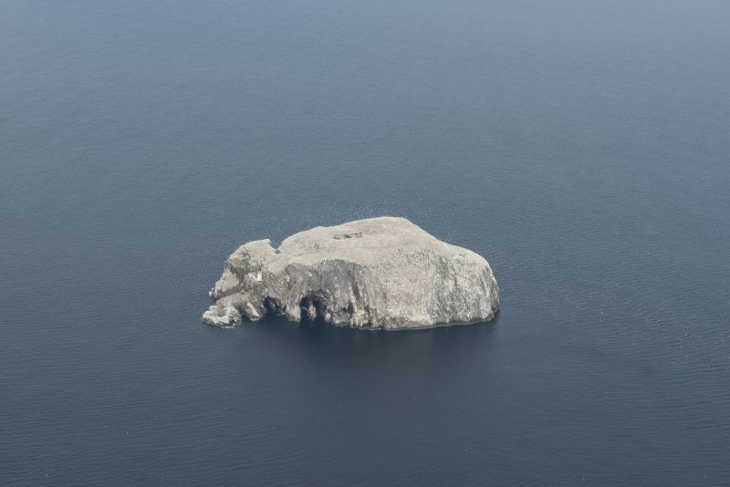 General oblique aerial view of the  Bass Rock, looking NW.