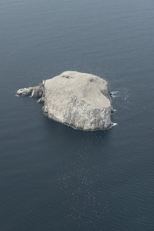 General oblique aerial view of the  Bass Rock, looking SW.