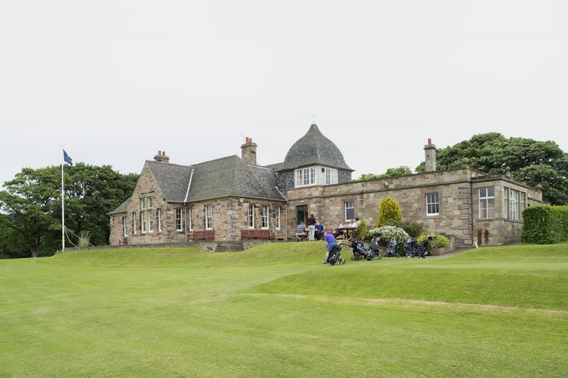 General view of Longniddry Golf Clubhouse from west.
