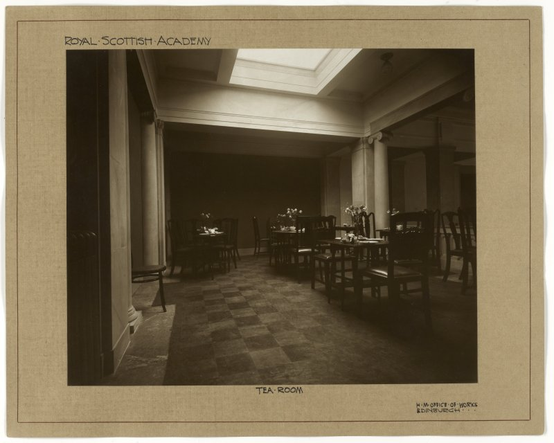 Interior view of the Royal Scottish Academy, Edinburgh, showing  tea room.