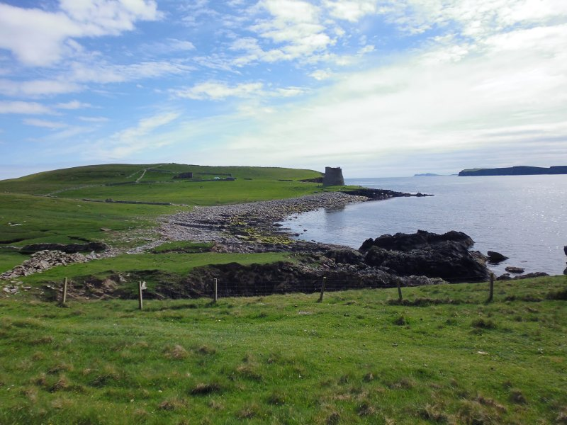 View from North of The Haa and Broch of Mousa