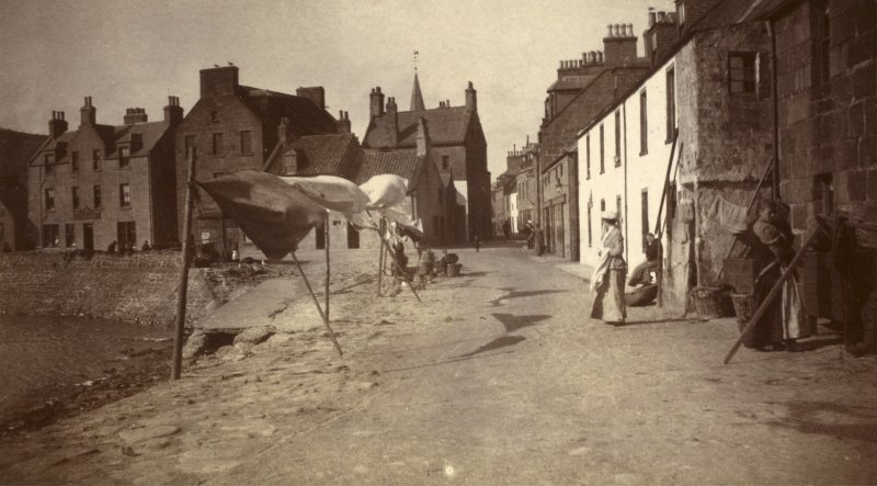 View of Harbour Street, Stonehaven.