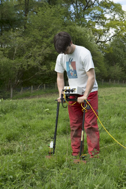 William Wyeth carrying out geophysical survey