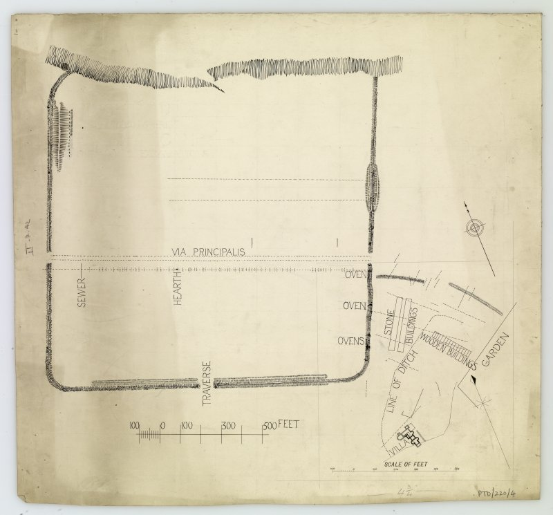 Plan of fortress at Inchtuthil.