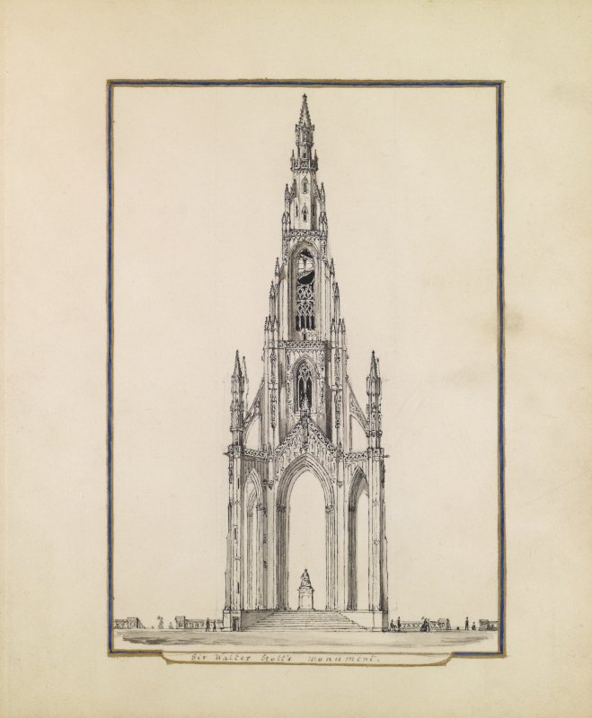 View of the Scott Monument, Princes Street, Edinburgh.