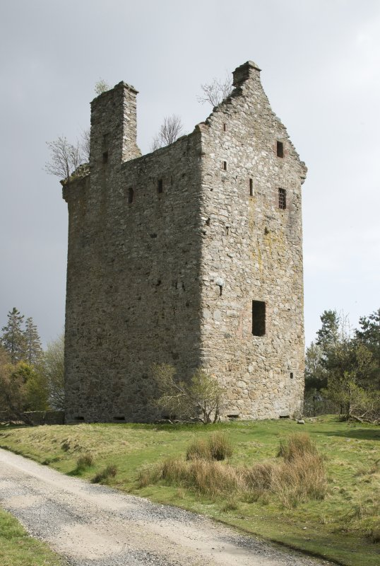Invermark Castle. View from north west