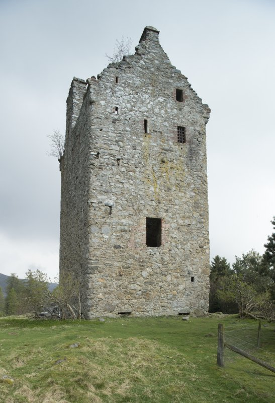 Invermark Castle. View from west