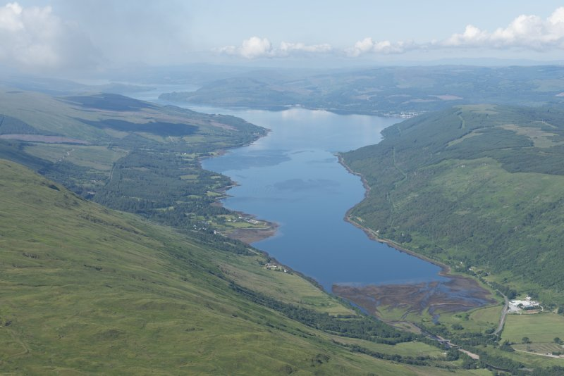 General oblique aerial view of Loch Fyne, looking SW.