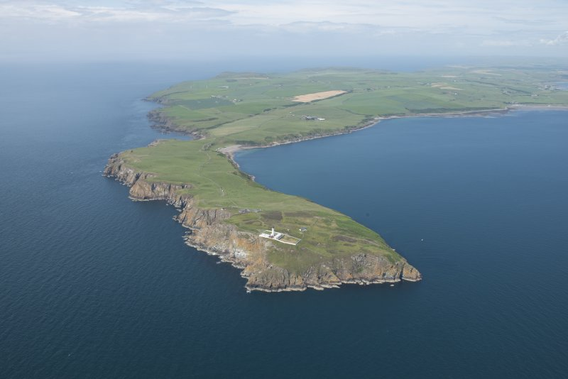 General oblique aerial view of the Mull of Galloway, looking NW.