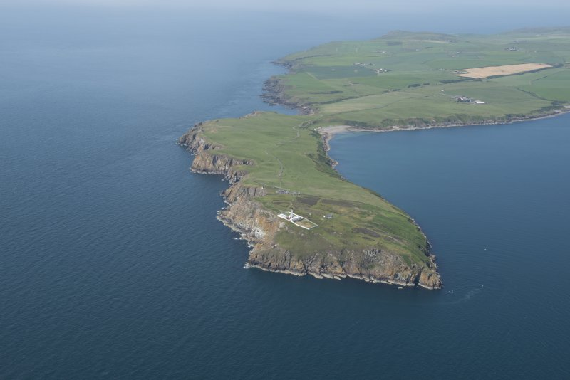 General oblique aerial view of the Mull of Galloway, looking WNW.