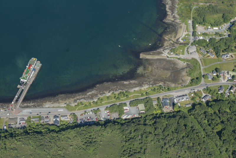 Oblique aerial view of Craignure, looking NE.