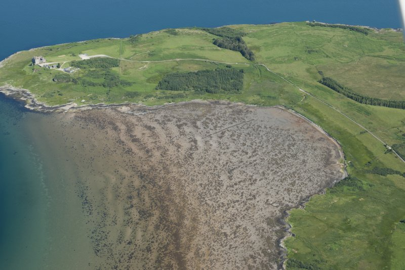 Oblique aerial view of Duart Bay, looking NE.