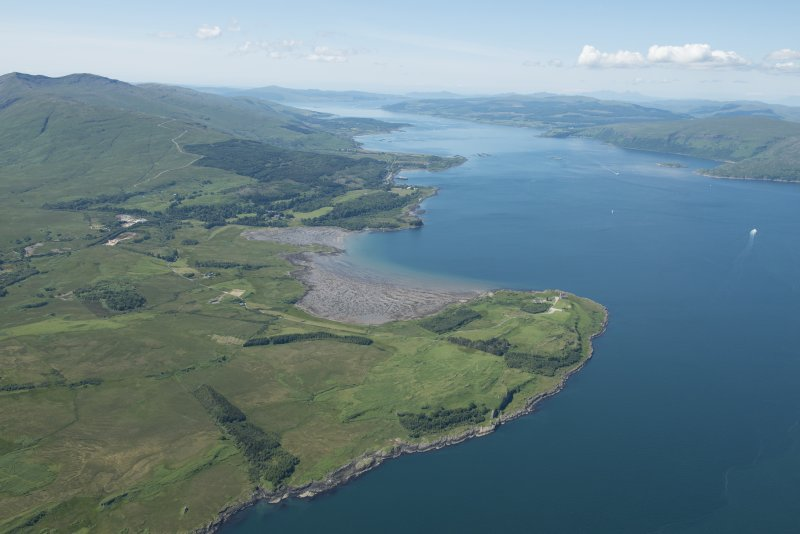 General oblique aerial view of Duart Bay, looking NW.