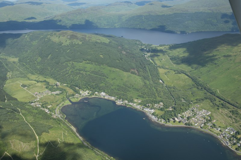 General oblique aerial view of Arrochar, looking E.