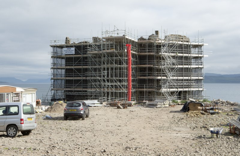 View from north, with scaffolding