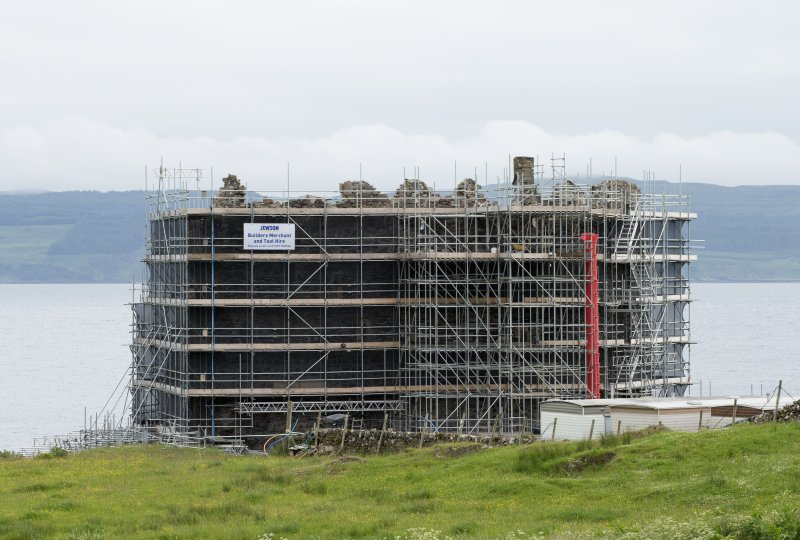 View from north east, with scaffolding