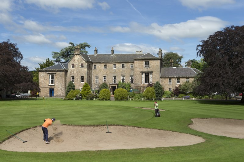 General view of Cawder House Golf clubhouse from south south east.