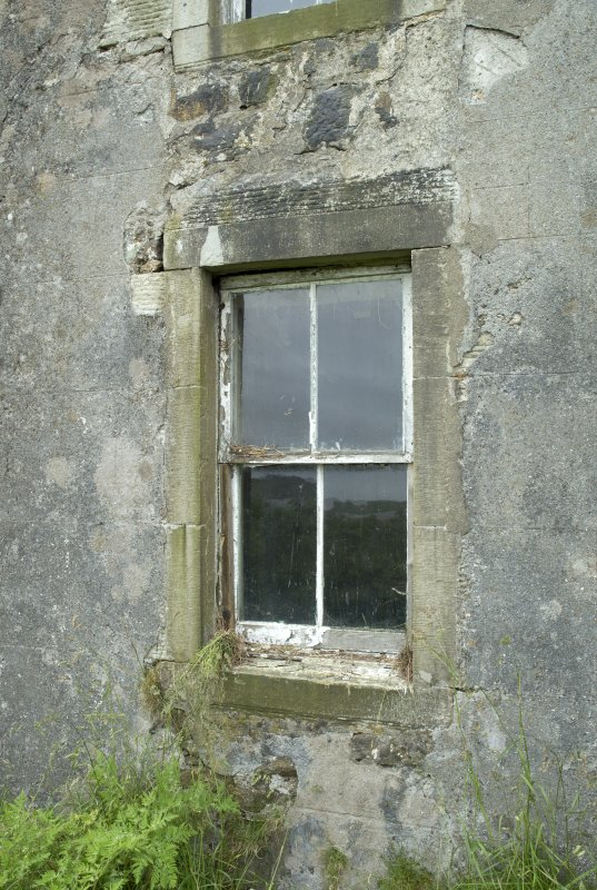 South east range, detail of parlour window at south end