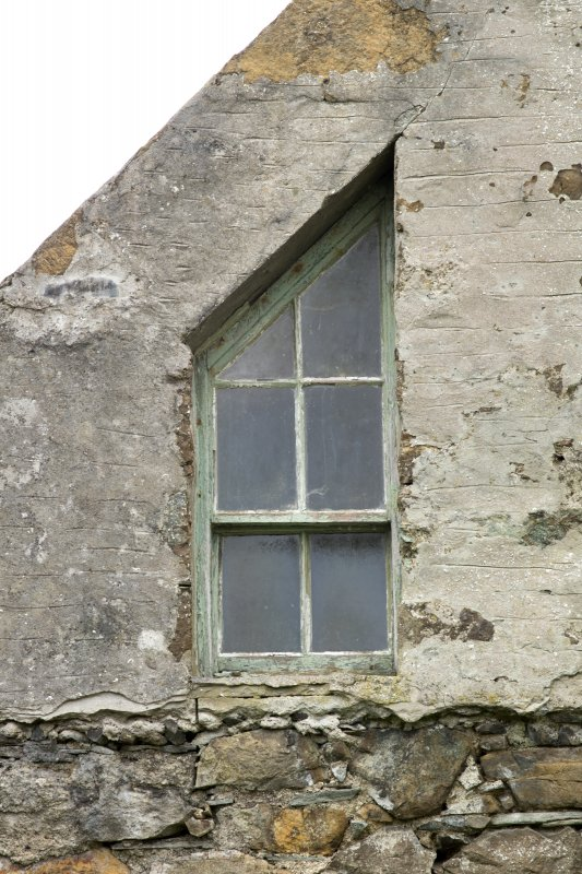 North west range, detail of angled window in north gable