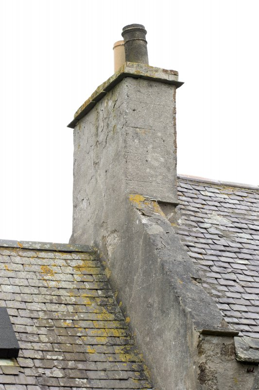 Detail of chimney at north end of original block of south east range