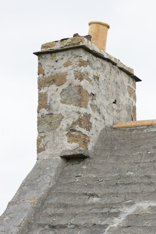 Detail of chimney and notch at base at north end of north west range