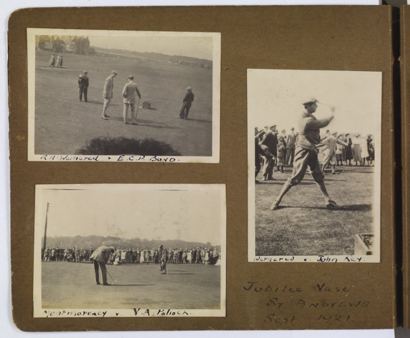 Views of golfers in the Jubilee Vase competition in St Andrews 1921.